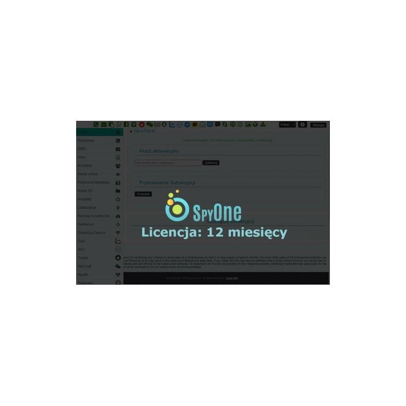 Oprogramowanie szpiegowskie Android SpyOne All in ONE - licencja 12 miesięcy