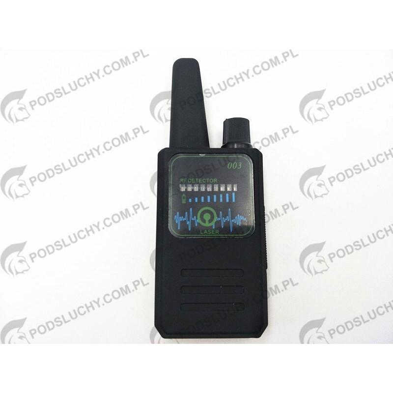 Wykrywacz 003, GPS, kamer, podsłuchów