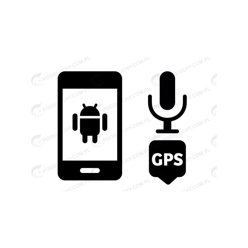 Podsłuch otoczenia Android, zdalny dyktafon + lokalizator