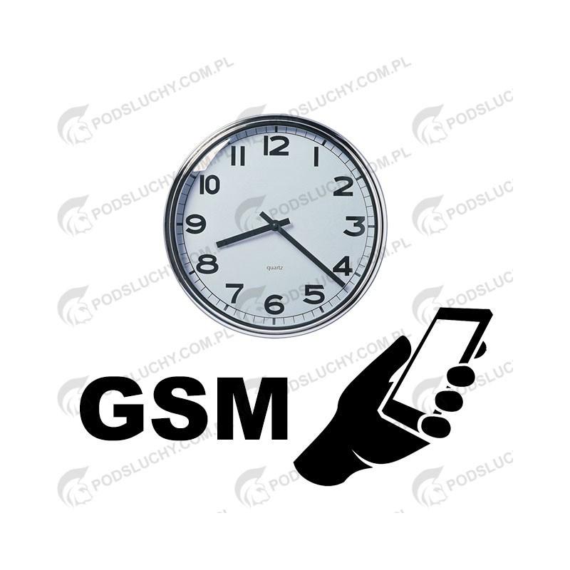 Podsłuch GSM, dzwoń z komórki, w zegarze naściennym