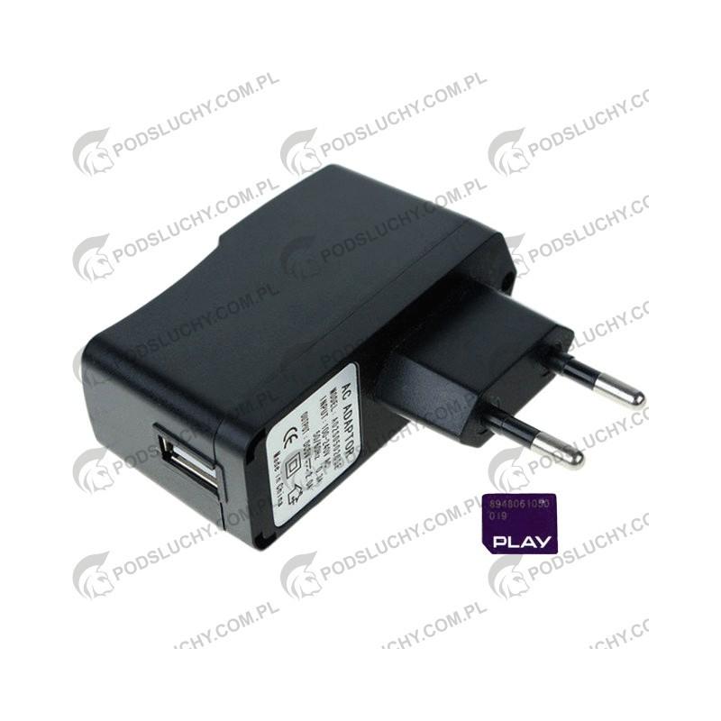 Podsłuch GSM w ładowarce USB, Samsung, iPhone, iTab, Nokia, HTC, LG, Huawei, MyPhone, SONY