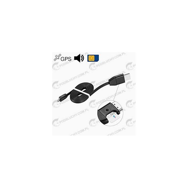 Podsłuch GSM w kablu, przewodzie USB, ładowarki, micro USB