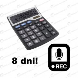 Podsłuch w kalkulatorze, dyktafon 8 dni nagrań